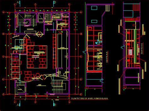 pub video dwg section  autocad designs cad