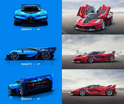 The dico carries over with the same interior design from the divo may be a mean machine, but it's nowhere near as fast as the chiron it is based on. Bugatti Vision Gran Turismo VS Ferrari FXX K #Bugatti #Ferrari | Ferrari fxx, Bugatti, Ferrari