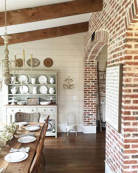 interior brick wall 35 best farmhouse interior ideas and designs for 2018