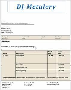 Vorsteuerabzug Rechnung : rechnungen erstellen muster was geh rt auf eine rechnung ~ Themetempest.com Abrechnung