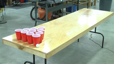 how to make a beer pong table diy beer pong table crafty pinterest