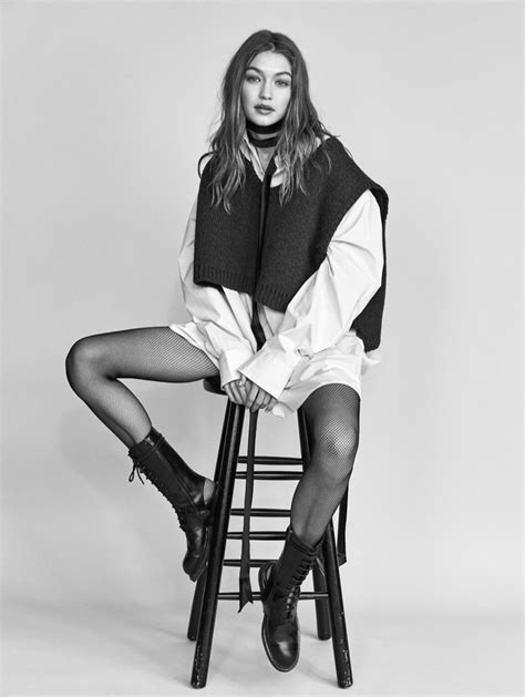 Gigi Hadid Poses in Fashion Forward Looks for Vogue China ...