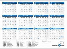 Calendar 1971
