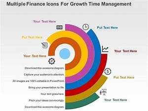 Multiple Finance Icons For Growth Time Management Flat ...