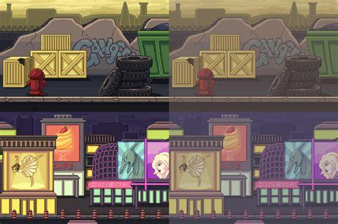 pixel art street backgrounds opengameartorg