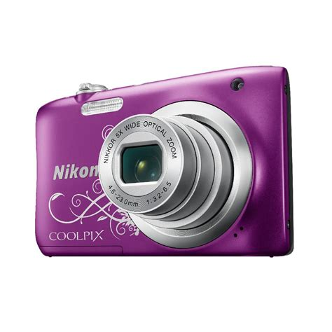 Nikon Coolpix Digital Camera Purple Pattern A100 Ebay