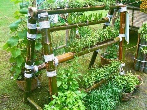 Bamboo Vertical Garden by Bamboo Vegetable Garden Garden Vertical