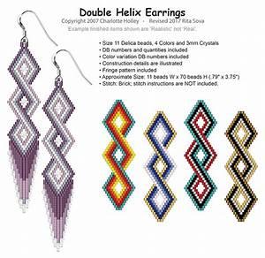 Helix Size Chart Double Helix Earrings Bead Patterns