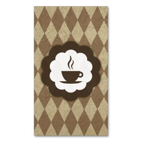 coffee shop diamonds stamp card business card template