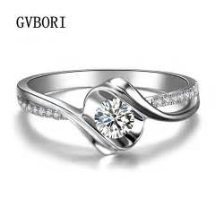 wedding rings real diamonds 0 12ct wedding ring gvbori 18k white real gold shining forever jewelry