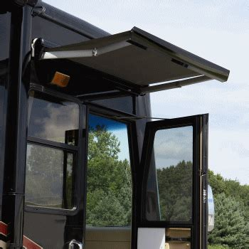 marquee   door acrylic awning compliment  camper today