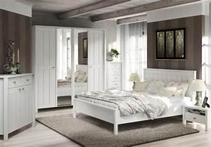 Komplettes Schlafzimmer Kaufen : schlafzimmer brighton in wei super matt landhaus style ~ Watch28wear.com Haus und Dekorationen