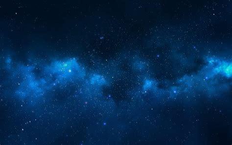 Milky Way Galaxy Blue Nebula Clouds Wallpapers