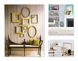 Vintage empty frame wall decor for A frame interior decorating ideas