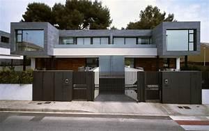 Simple Modern Home with Gray Brick Façade