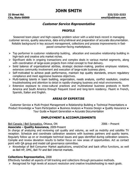 Sle Resumes For Customer Service by Customer Service Representative Resume Template Want It
