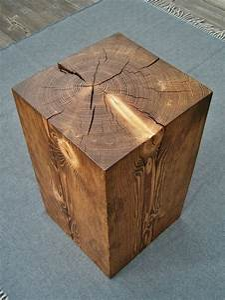 2, hemlock, wood, block, side, tables