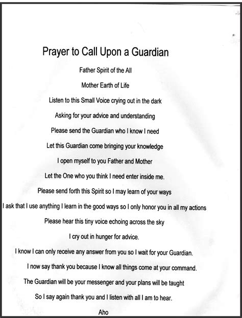 Guardian Prayer by Guardian Prayer Spells Witchcraft Magick Wiccan