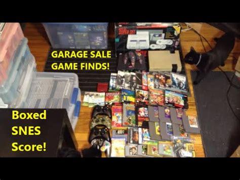 garage sales ta garage finds boxed snes score scottsquatch