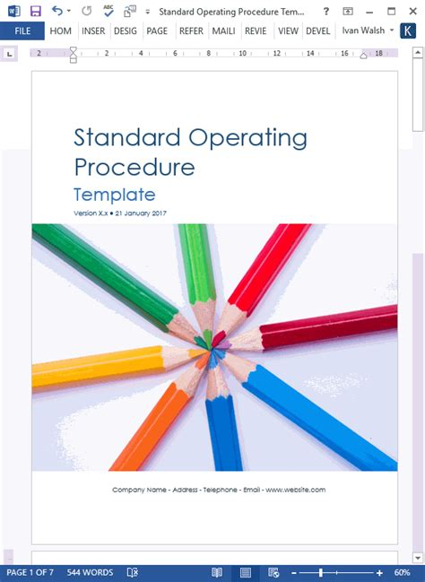write standard operating procedures examples templates
