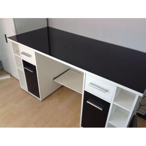 bureau verre blanc bureau noir et blanc bureau ikea micke noir et blanc pas