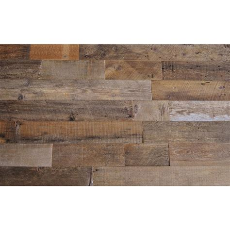 home depot reclaimed wood reclaimed barn wood brown sealed 3 8 in thick x 5 5 in width x varying length solid hardwood