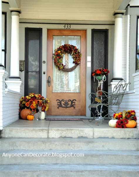 Ideas For Fall Front Porch by Anyone Can Decorate Fall Front Porch Ideas 2012