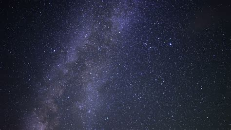Time Lapse Of Milky Way Slowly Turing Clockwise Galaxy