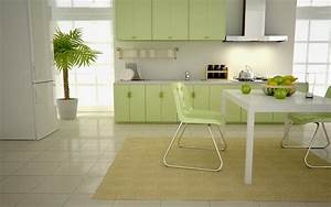 Green kitchens for Kitchen colors with white cabinets with green plant wall art
