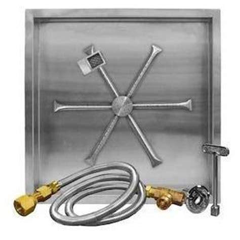 gas pit burner kit firegear 32 inch square burning spur