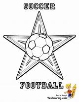 Soccer Coloring Ball Football Cup Fifa Yescoloring Sports Punch Toe Caf sketch template