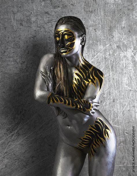 Silver And Gold Body Paint By Elizabethpetroumua On Deviantart