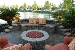 Outdoor Fire Pit with Pavers and Patio Area