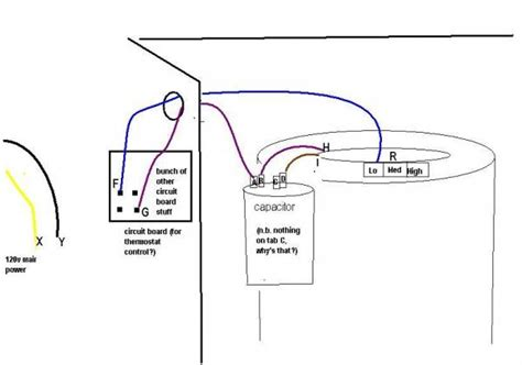 trouble shooting furnace fan  runs   give