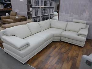 Genuine italian leather corner sofa with headrests for Genuine italian leather sectional sofa