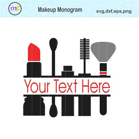 makeup monogram svg makeup svg makeup clipart crella