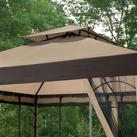 10x10 canopy cover replacement kmart essential garden 10x10 arrow gazebo replacement