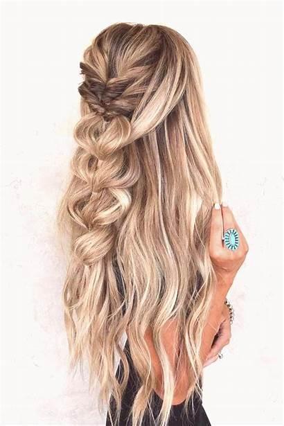 Hairstyles Half Updo Hair Braids Styles Down