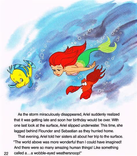 walt disney book images   mermaid ariel