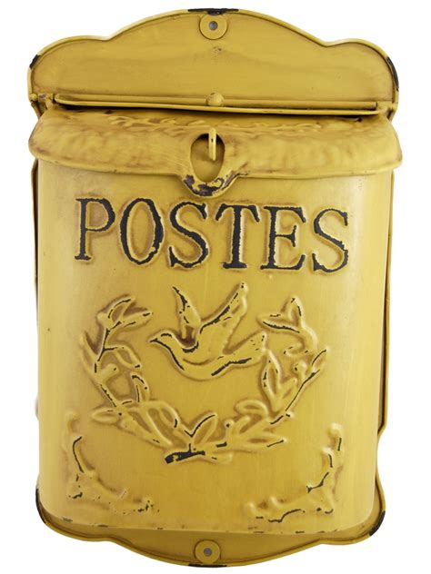 cloche de cuisine boite aux lettres jaune antique postes lintemporel deco fr