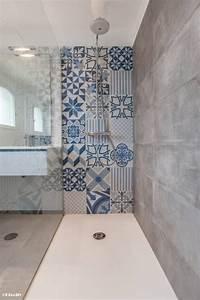 renovation de salle de bain avec carreau ciment exterieur With salle de bain design avec adhésif de décoration
