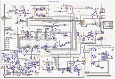 skema mesin tv wcom 29 inch diagram