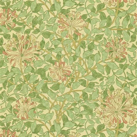 Honeysuckle Wallpaper  Greenbeigepink (210435