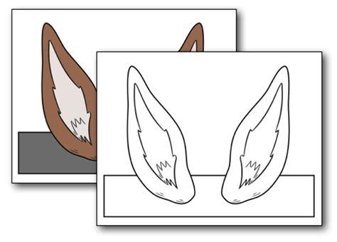 printable donkey ears  home plans design