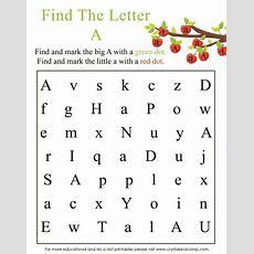 Preschool Do A Dot Printables A Is For Apple