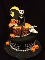 halloween nightmare before christmas birthday cake - Christmas Birthday Cake