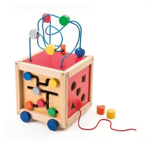 oxybul cuisine en bois cube boulier d 39 activités à tirer en bois manibul création oxybul pour enfant de 18 mois à 5 ans