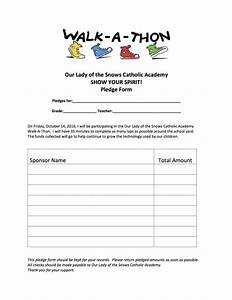 walk a thon pledge form our lady of the snows catholic With walkathon registration form template
