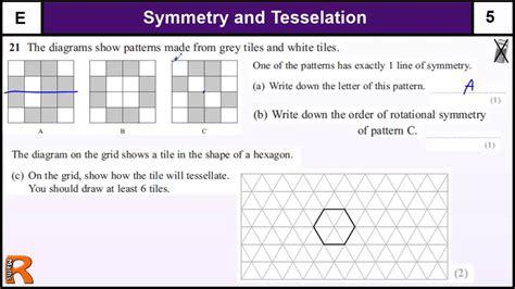 symmetry  tesselation gcse maths foundation revision