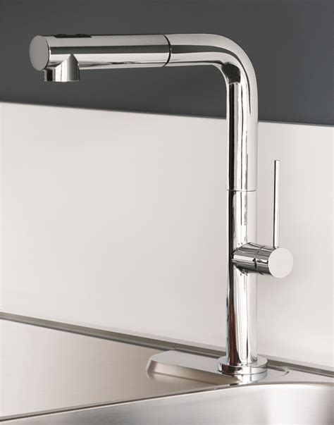 chrome modern kitchen faucet  pull  dual shower